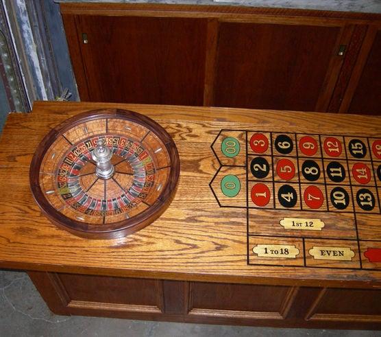 front bar back bar roulette table at 1stdibs. Black Bedroom Furniture Sets. Home Design Ideas