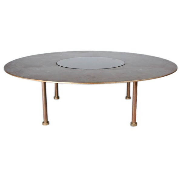 Modern style steel and glass coffee table by heltzer at for Contemporary glass cocktail tables