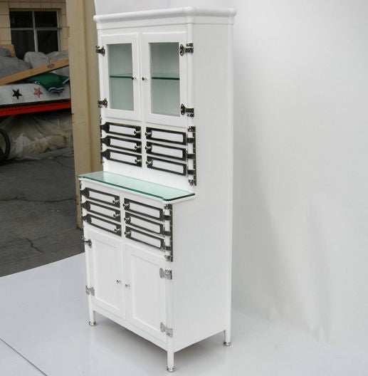 restored art deco medical cabinet at 1stdibs. Black Bedroom Furniture Sets. Home Design Ideas