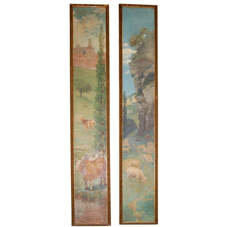 Pair of 19th Century Oil Paintings on Board 1