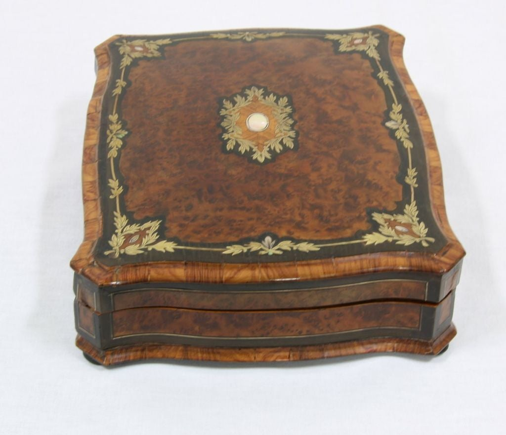 napoleon iii boule burl walnut jewelry box at 1stdibs