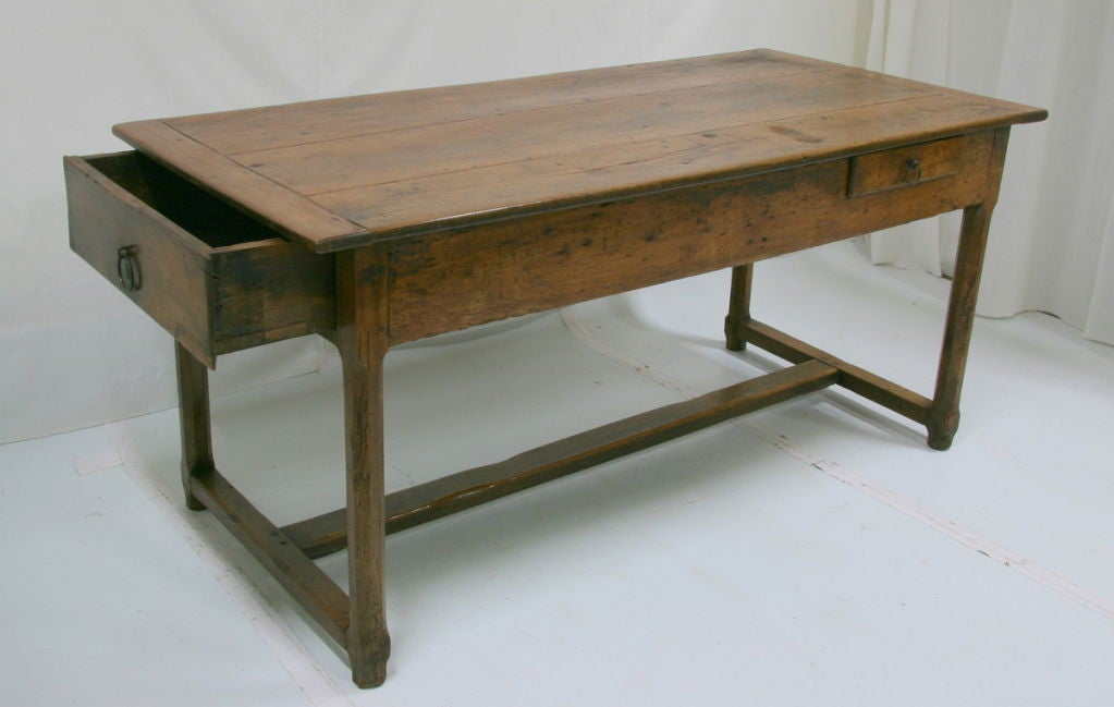 18th Century French Farm Table With Drawer 3