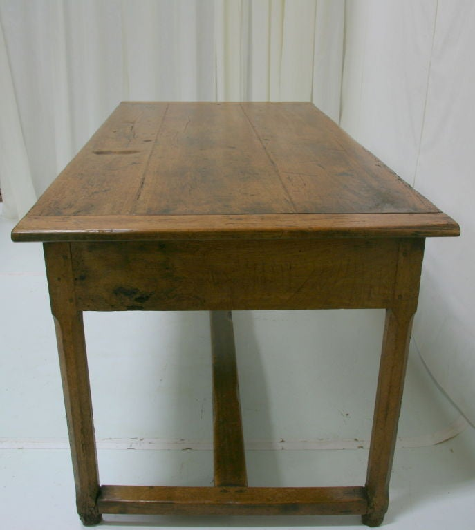 18th Century French Farm Table With Drawer At 1stdibs