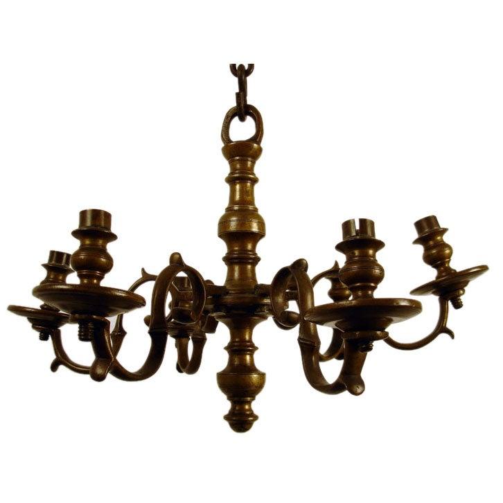 18th Century Brass Chandelier For
