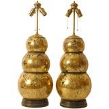 Pair of Bold Italian Glass Lamps