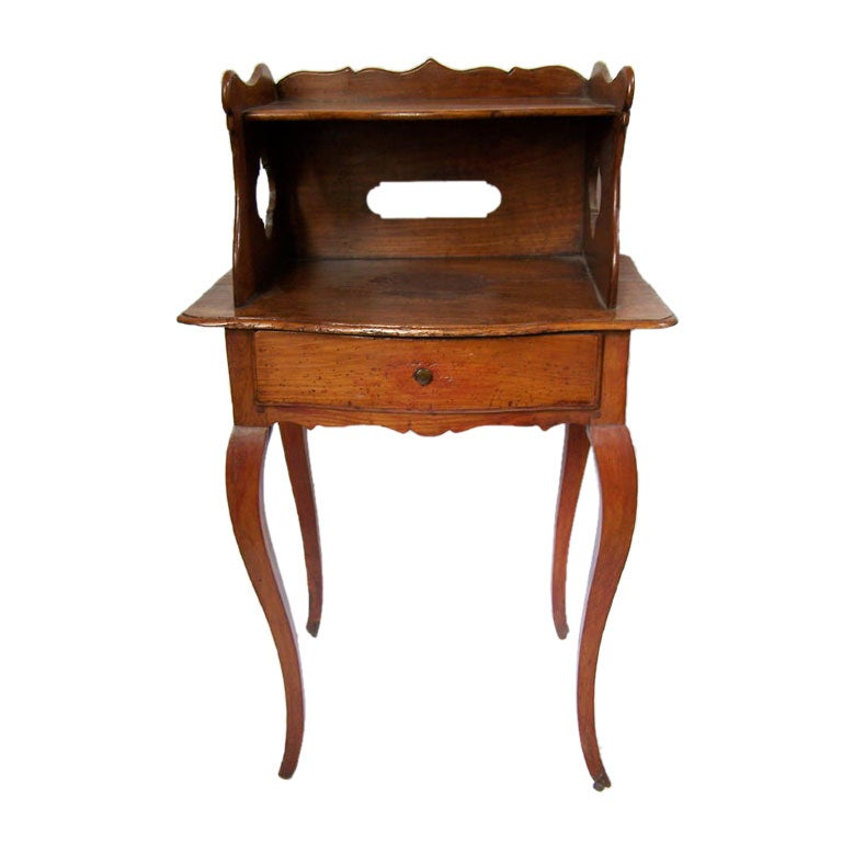 Louis XVI Two Tier Cherrywood Side Table French 18th Century