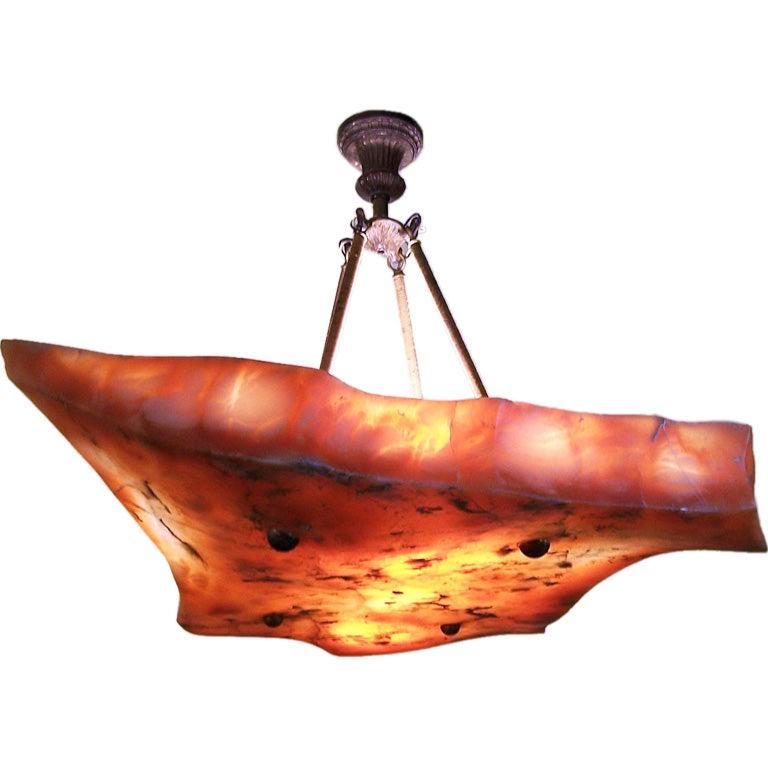 Extraordinary Alabaster Light Fixture
