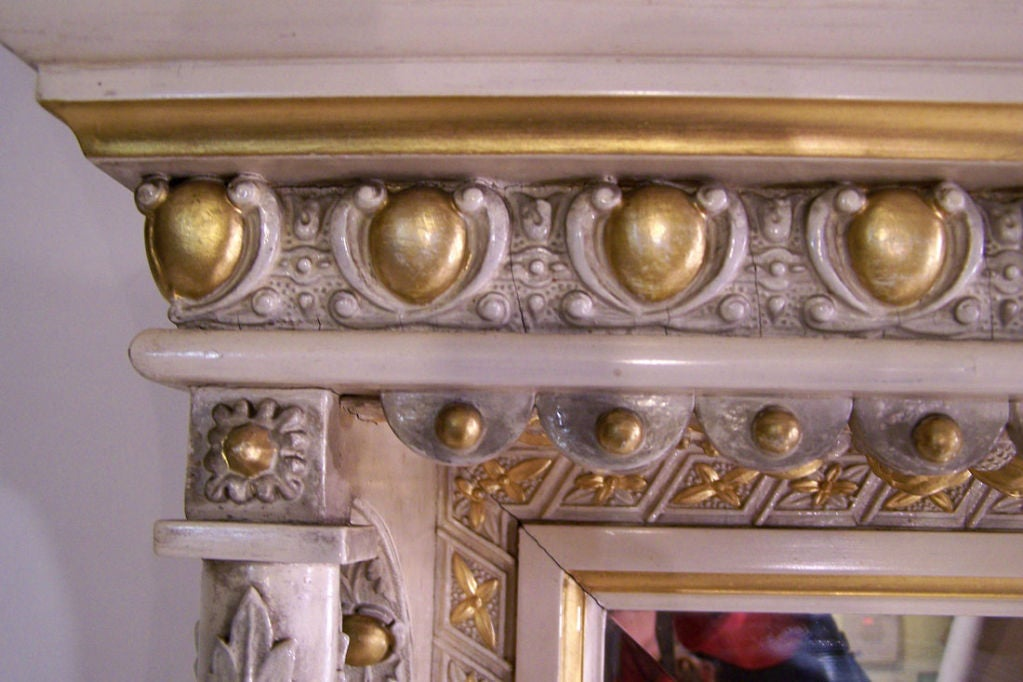 Large Victorian Aesthetic Mantel Mirror At 1stdibs