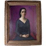 Large Vintage Portrait Painting