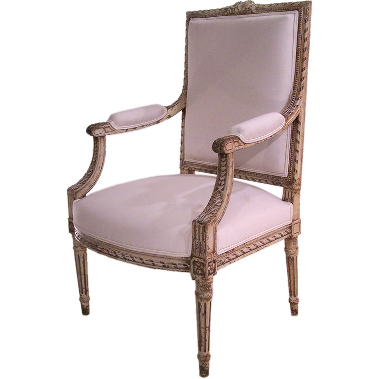louis xvi style fauteuil at 1stdibs. Black Bedroom Furniture Sets. Home Design Ideas