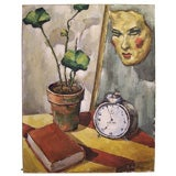 Quirky WPA Style Still Life Painting