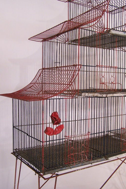 large antique bird cage at 1stdibs. Black Bedroom Furniture Sets. Home Design Ideas