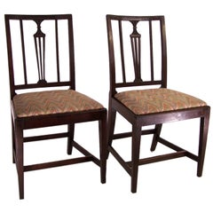 Pair of Early 19th Century  Irish Elmwood Side Chairs
