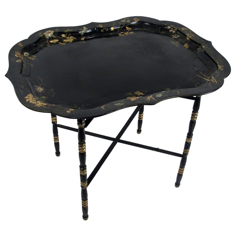 19thc Papier Mache Tray Table At 1stdibs