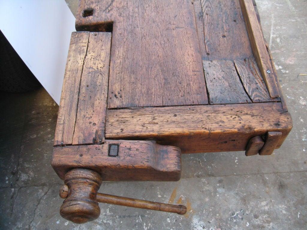 Tavolo da lavoro in legno massiccio working bench at 1stdibs - Tavolo da lavoro in legno ...