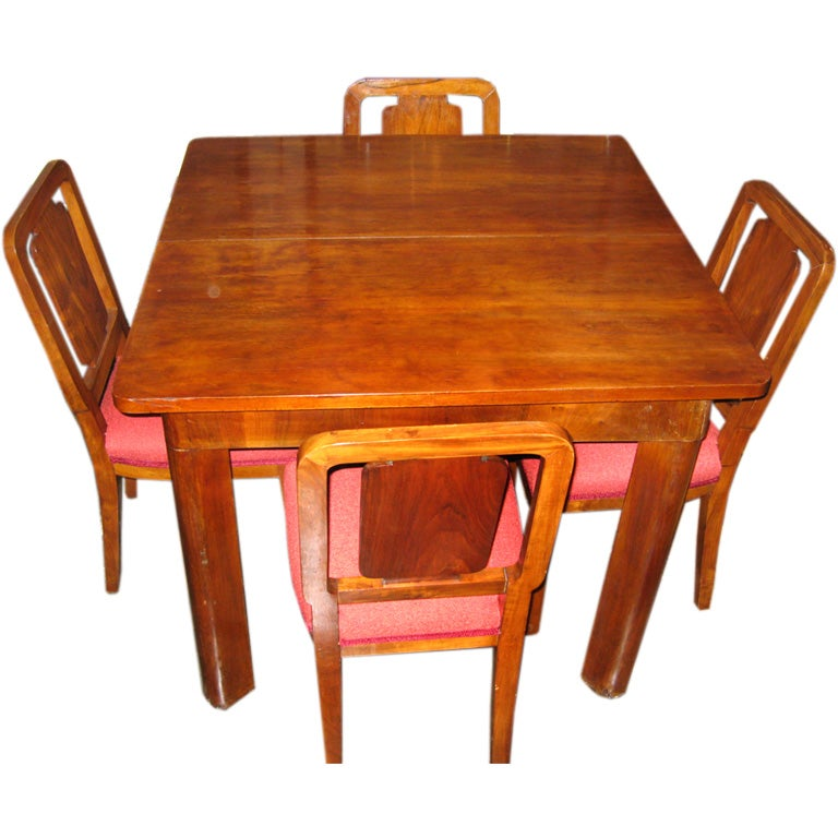 Art deco dining room set at 1stdibs - Art deco dining room table ...