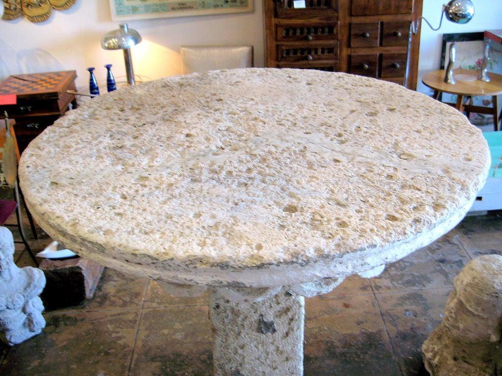 19th Century Masonry Garden Table For Sale