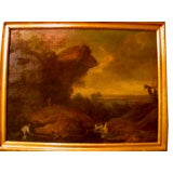 Continental 18th Century Oil Painting Of Landscape