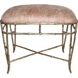 Solid Brass Faux Bamboo Bench