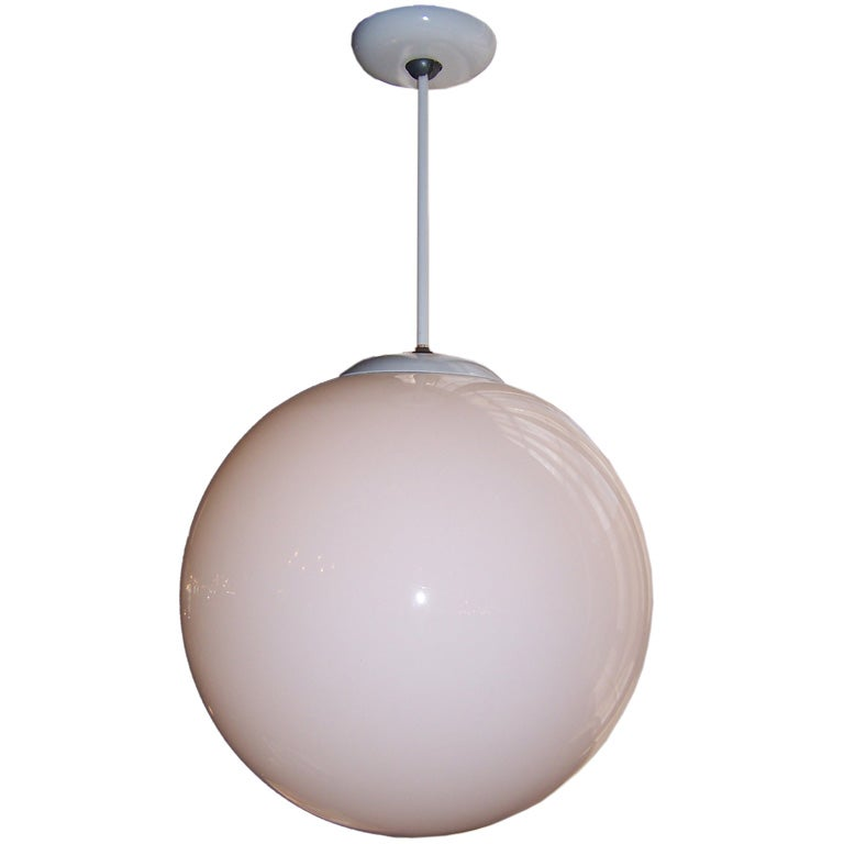 Mid century pendant globe light at 1stdibs for Mid century modern globe pendant light