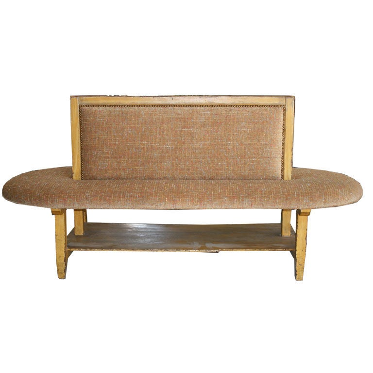Oval Double Sided Bench At 1stdibs