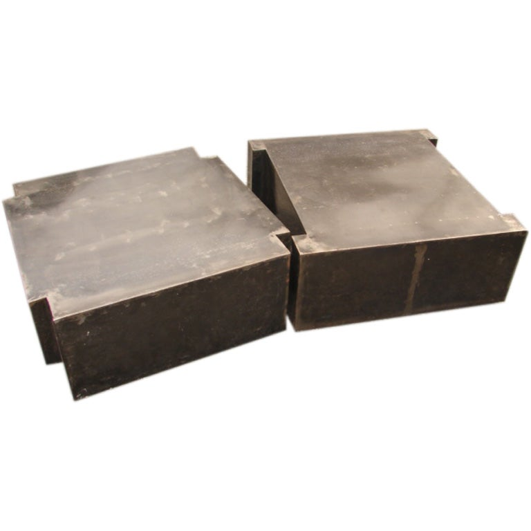 Steel Puzzle Coffee Tables At 1stdibs