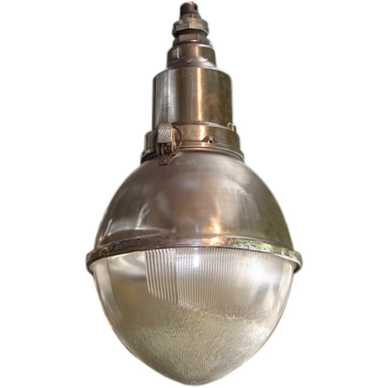 Large Industrial Hanging Pendant Light At 1stdibs