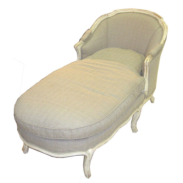 Very confortable french chaise longue at 1stdibs Chaise confortable
