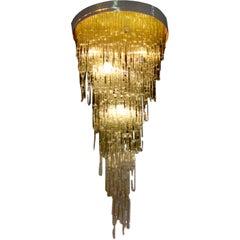 Exquisite, large but  light Italian 70's chandelier