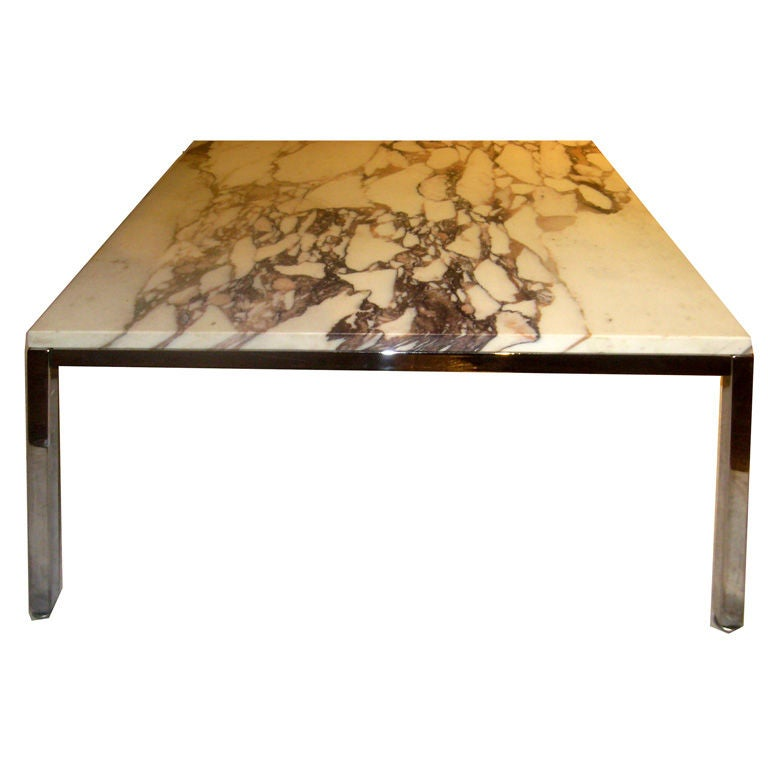 Marble top florence knoll coffee side table at 1stdibs Florence knoll coffee table