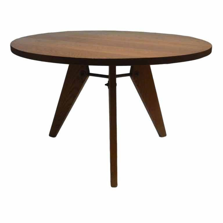 Jean prouve style round table at 1stdibs - Table basse jean prouve ...