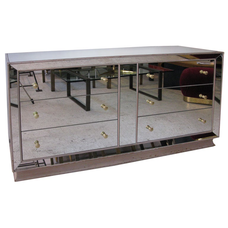 Mirrored Glass Dresser At 1stdibs