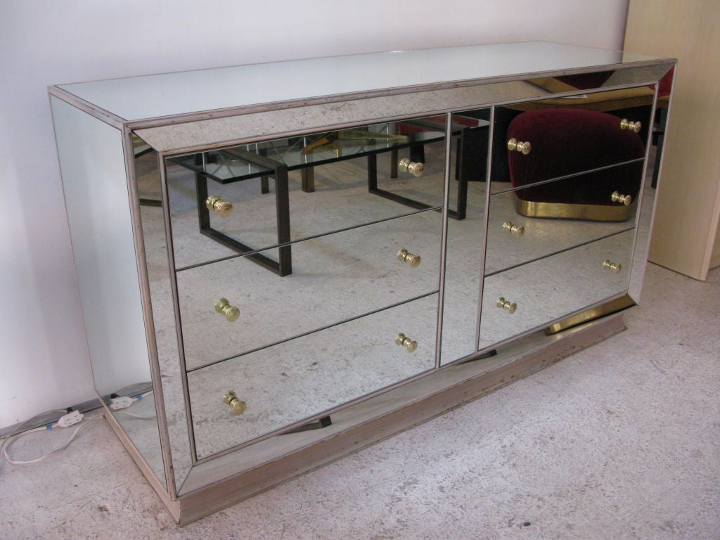 Mirrored glass dresser at 1stdibs Mirror glass furniture