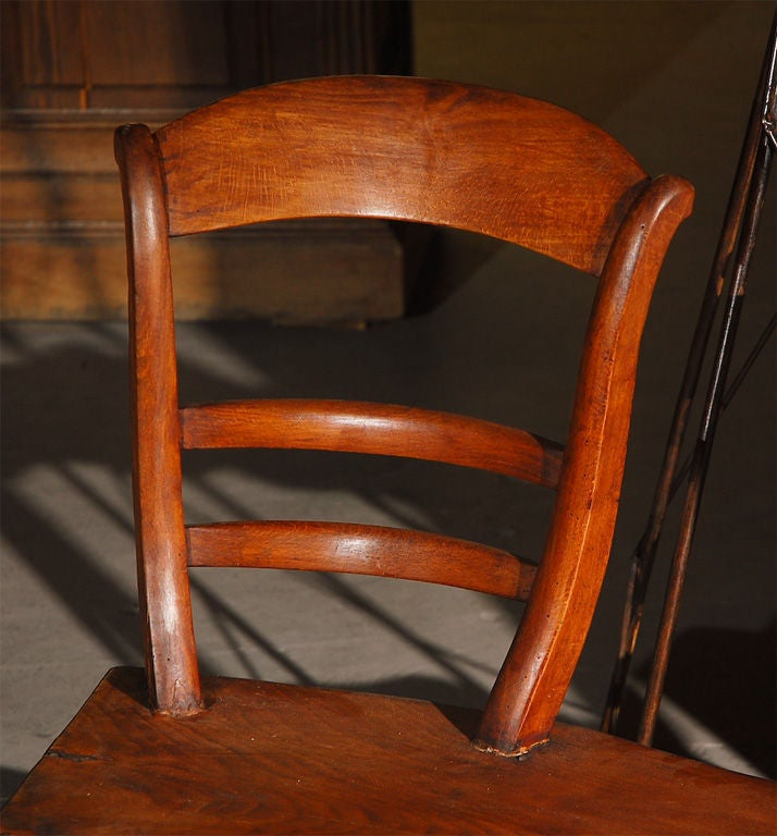 Beautiful wooden bench with chair backs at 1stdibs for Beautiful wooden benches