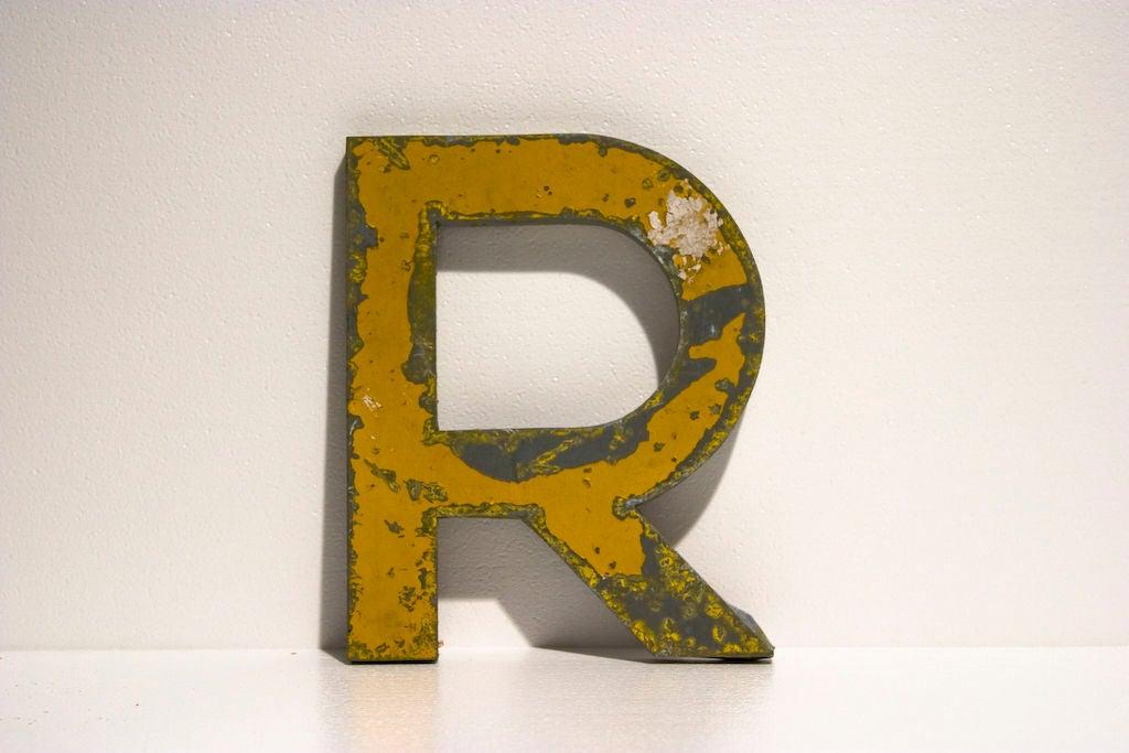 Vintage sign letters at 1stdibs for Furniture 6 letters