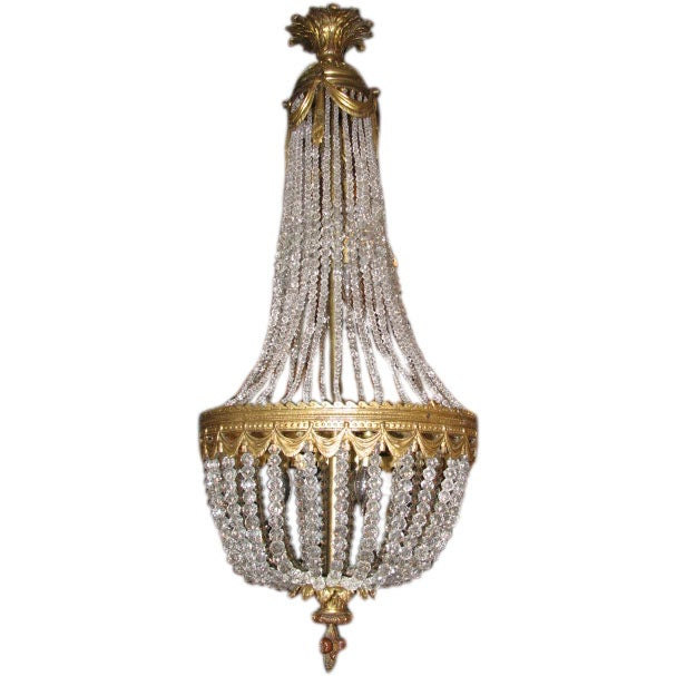 Late 19th century crystal montgolfier chandelier at 1stdibs late 19th century crystal montgolfier chandelier for sale aloadofball Choice Image