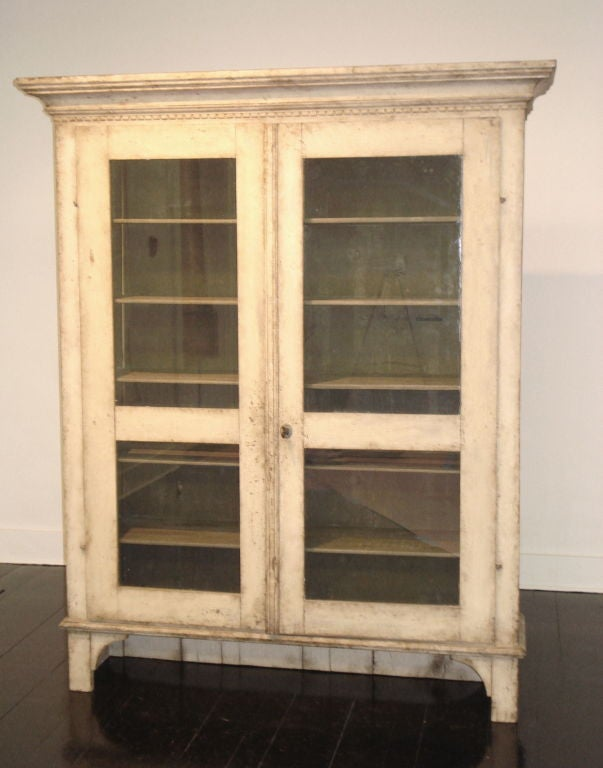 Swedish 18th Century Gustavian Two-Piece Cabinet For Sale