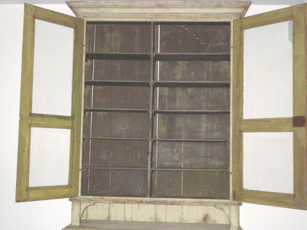 18th Century and Earlier 18th Century Gustavian Two-Piece Cabinet For Sale