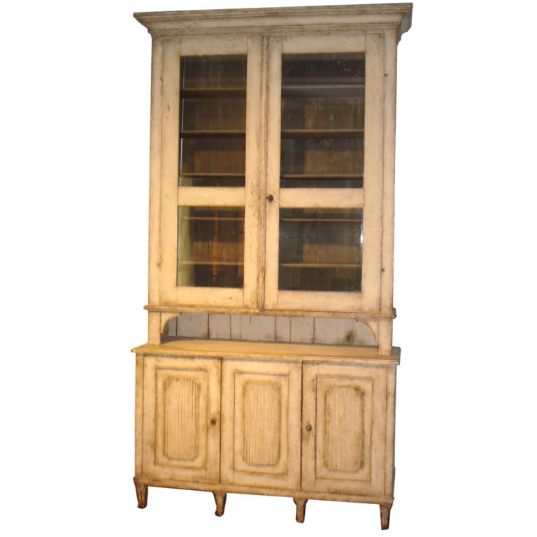 18th Century Gustavian Two-Piece Cabinet
