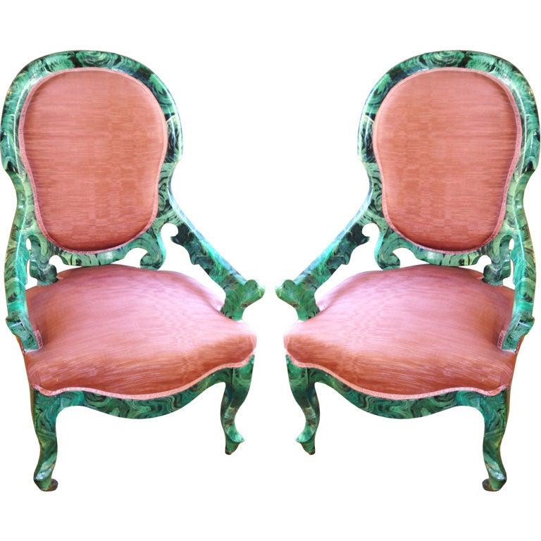 Malachite chairs