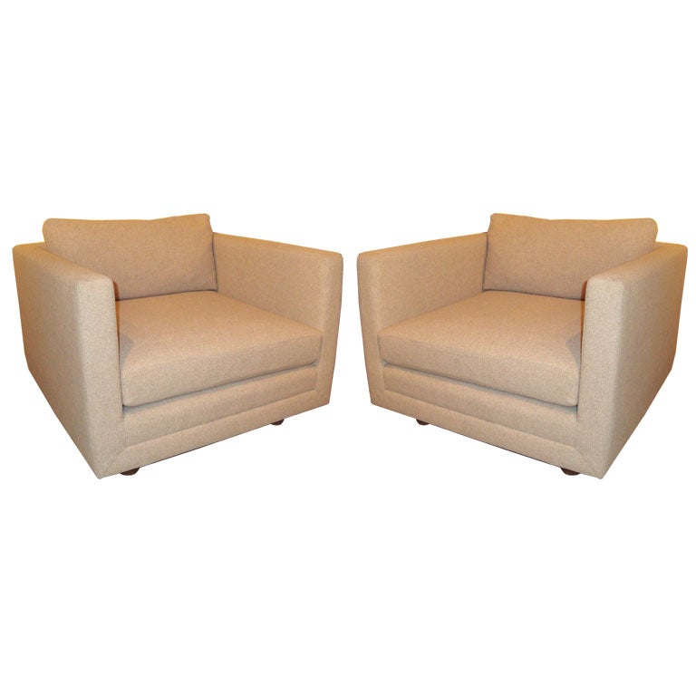 PAIR of Harvey Probber Cube Chairs at 1stdibs