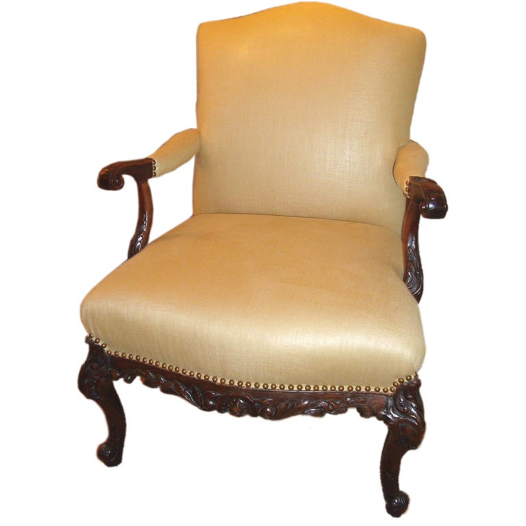 Hand Carved Louis Xv Fauteuil At 1stdibs