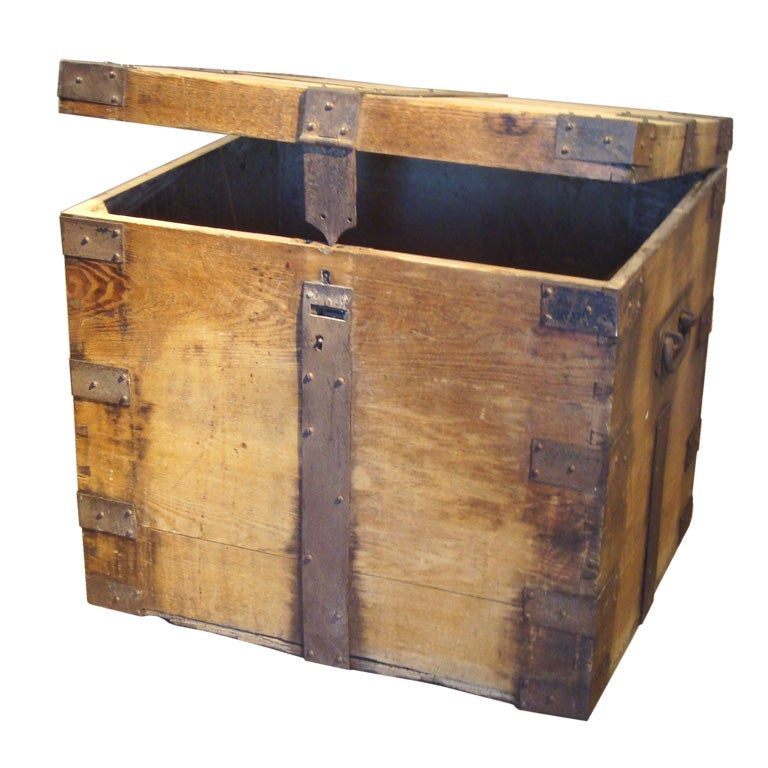 decor containers big w large antique storage box at 1stdibs 10685