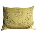 19th C French Ecclesiastic Fragment Pillow