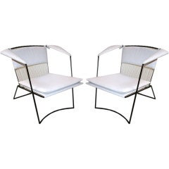 Pair of Joaquim Tenreiro 1950s White Armchairs