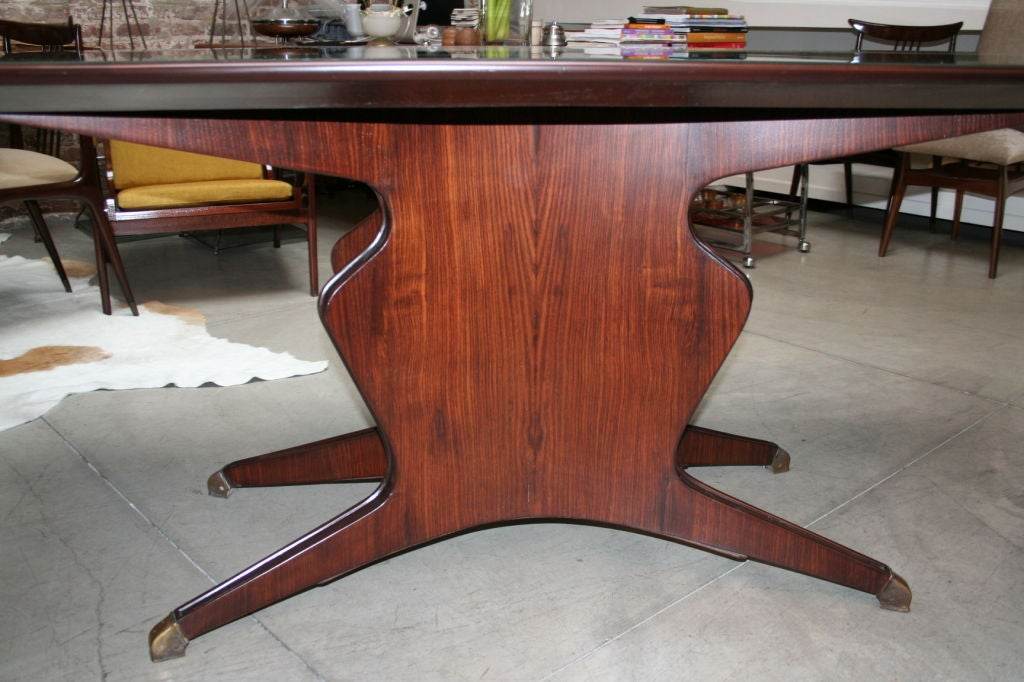 50 39 s borsani dining table with six matching chairs at 1stdibs