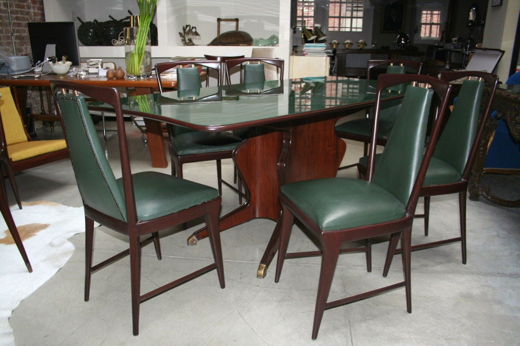 this 50 39 s borsani dining table with six matching chairs is no longer