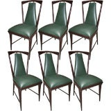 Six Dining Room Chairs with a Matching Table by Borsani