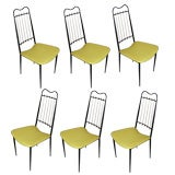 Six High-Back Metal Chairs by Artacho Jurado