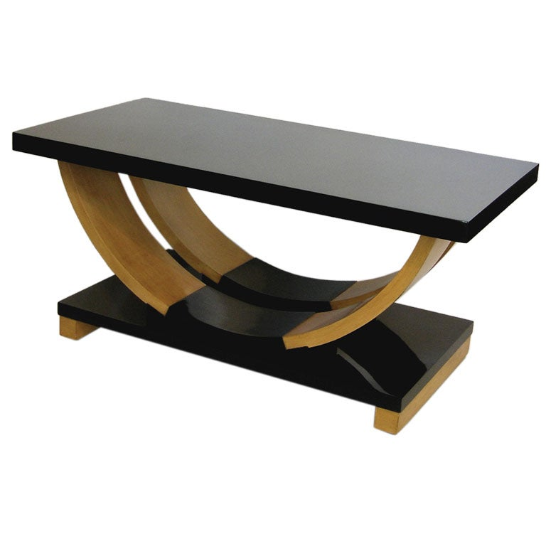 Streamline art deco coffee table by brown and saltman at for Table de nuit art deco